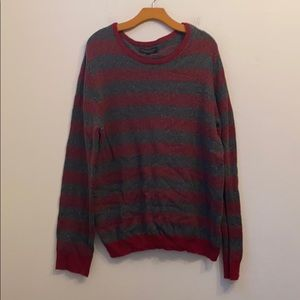 AEROPOSTALE GRAY STRIPED CREWNECK SWEATER SIZE XL